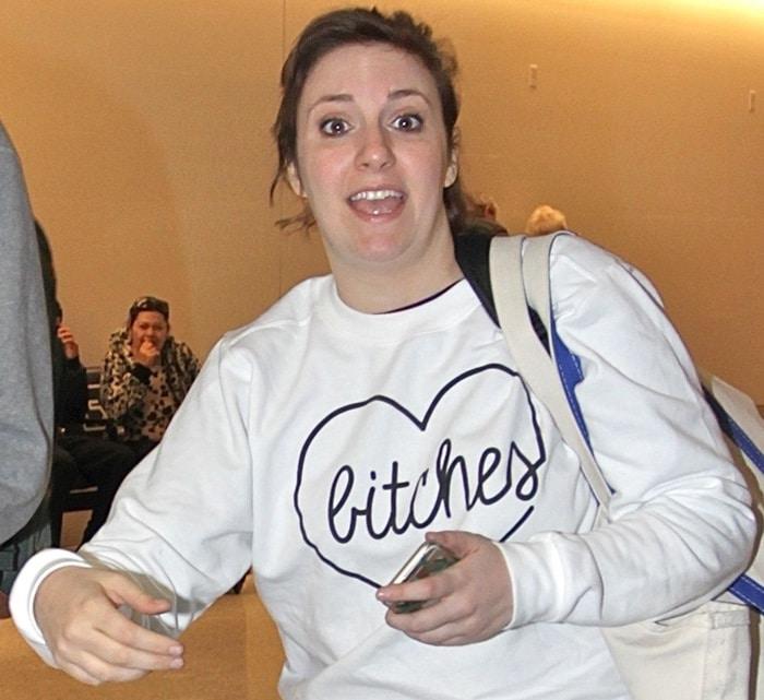 Lena Dunham's Best Bitches sweatshirt from Kkarmalove