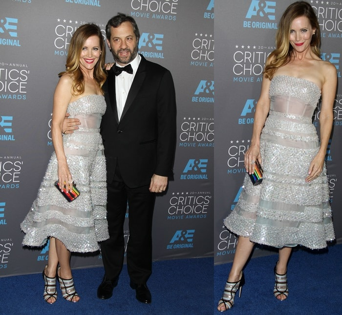 Leslie Mann and her husband Judd Apatow