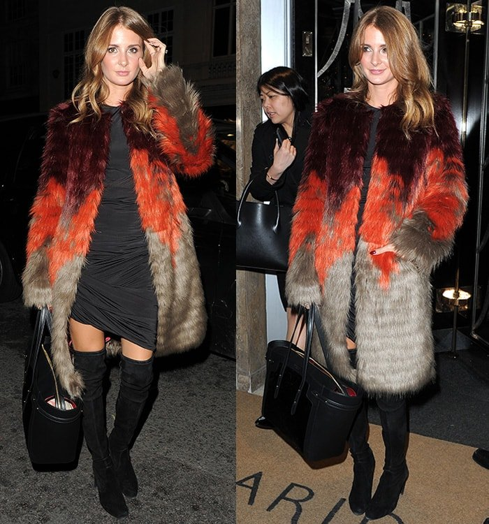 Millie Mackintosh at Claridge's Christmas Tree unveiling party in London, England, on November 19, 2014