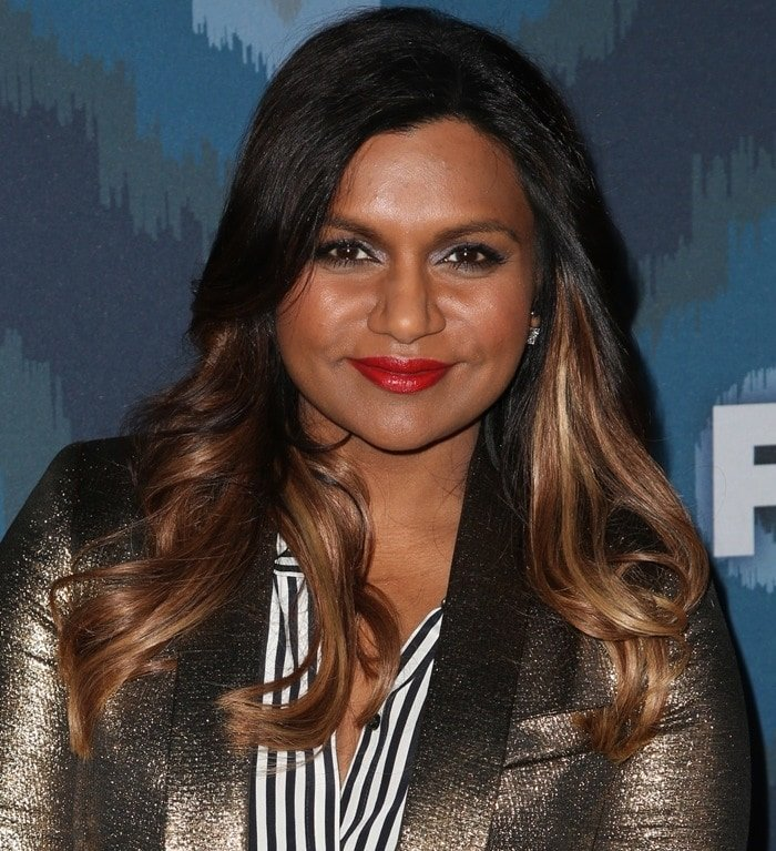 Mindy Kaling at the 2015 Fox Winter Television Critics Association All-Star Party at Langham Huntington Hotel on in Los Angeles on January 17, 2015