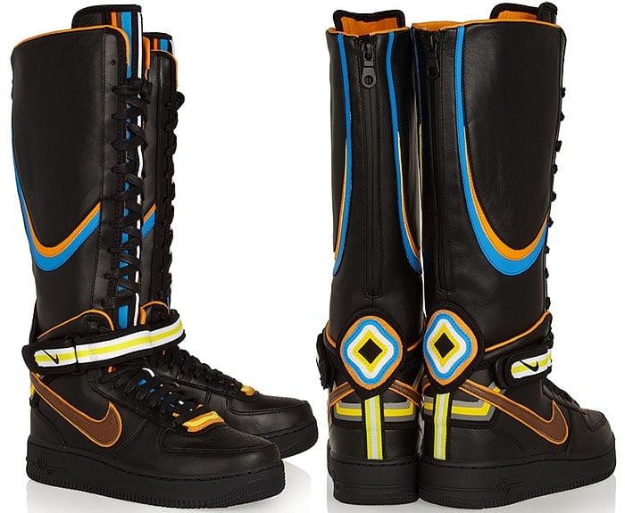 Nike x Riccardo Tisci Air Force 1 Tall Sneaker Boots in black