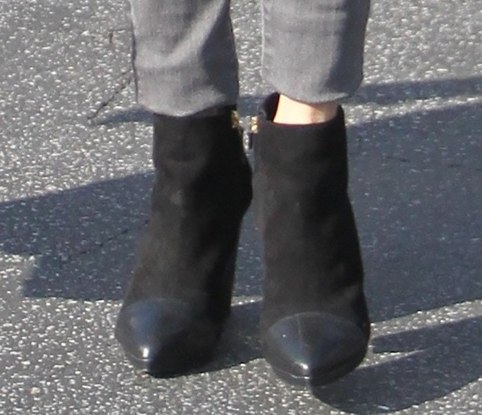 Nikki Reed wearing Tory Burch boots