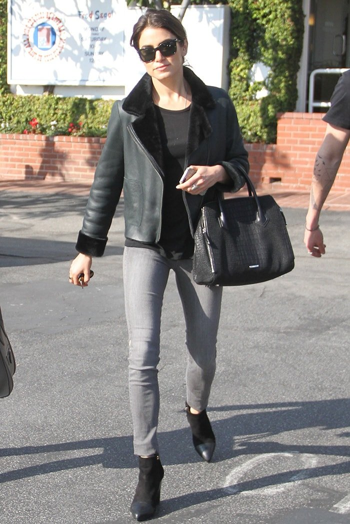 Nikki Reed grabbing lunch and shopping at Fred Segal in West Hollywood on January 13, 2015