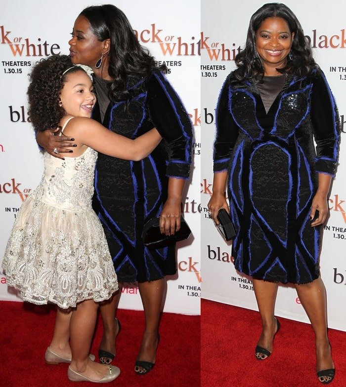 Octavia Spencer and Jillian Estell at the premiere of Black or White held at Regal Cinemas on in Los Angeles on January 20, 2015