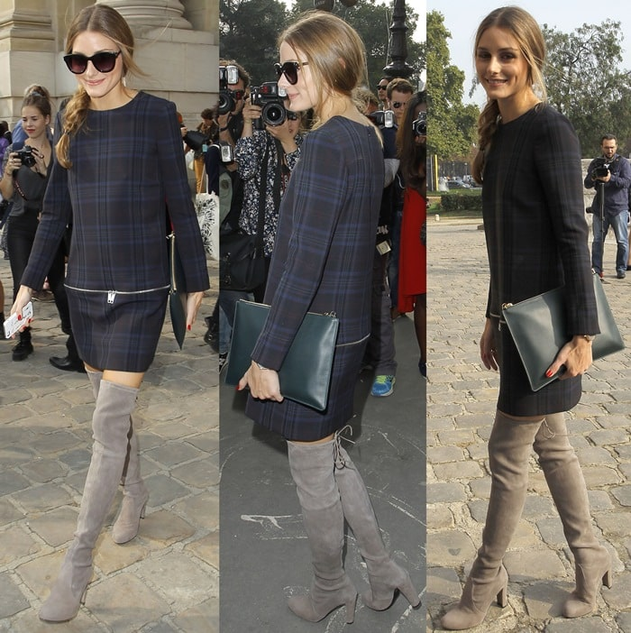 Olivia Palermo at the Carven show during Paris Fashion Week RTW Spring/Summer 2014 in France on September 26, 2013