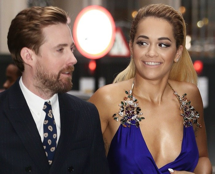 Rita Ora and Ricky Wilson at the launch of The Voice UK series 4