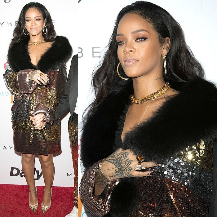 Rihanna at The Daily Front Row Fashion Los Angeles Awards Show held at the Sunset Tower in West Hollywood, California, on January 22, 2015