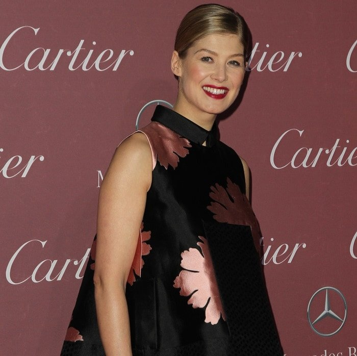 Rosamund Pike at the 2014 Palm Springs International Film Festival Awards Gala at the Springs Convention Center in Palm Springs on January 3, 2015