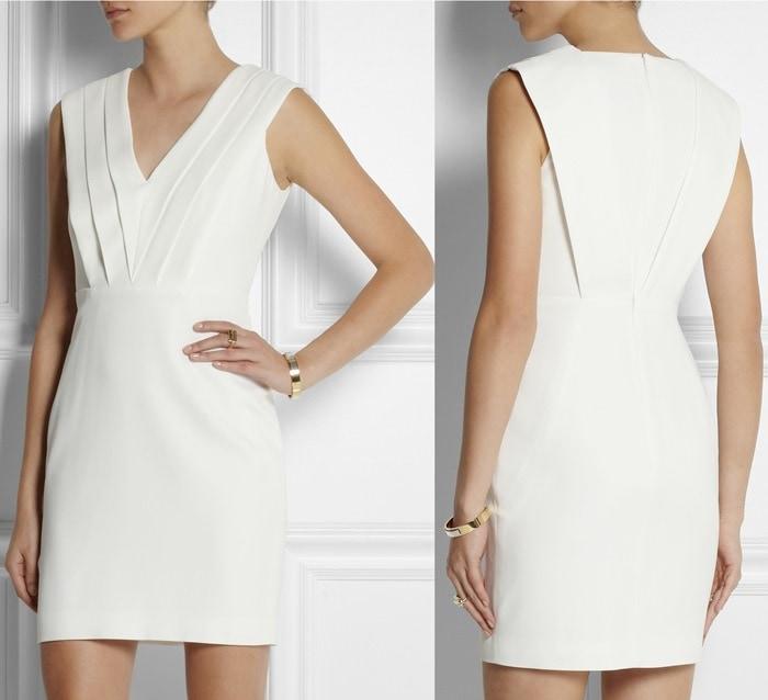 Saint Laurent Crepe Mini Dress