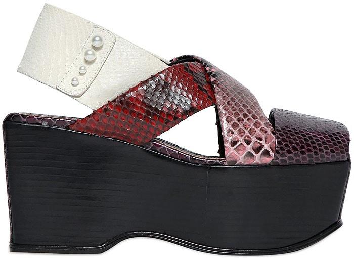 Sonia Rykiel python platform sandals