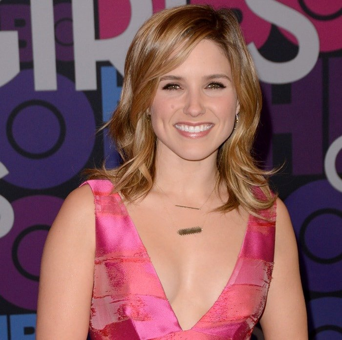 Sophia Bush at the season four premiere of Girls held at the American Museum of Natural History in New York City on January 5, 2015
