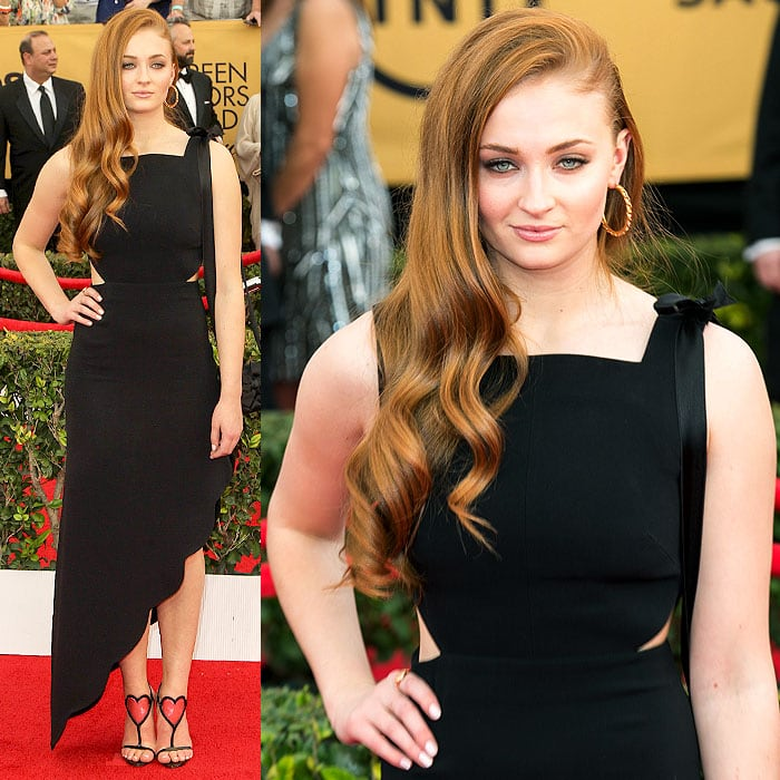 Sophie Turner arrives at the 21st Annual Screen Actors Guild Awards
