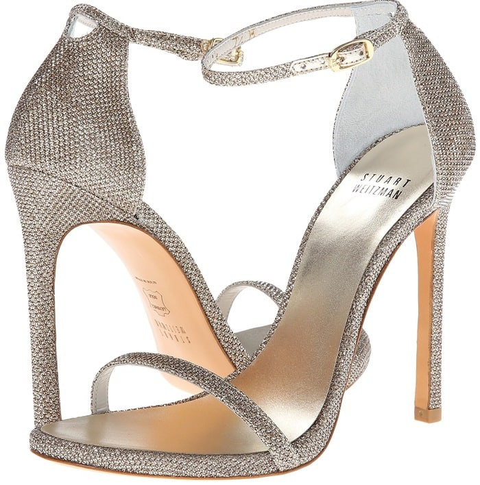 Stuart Weitzman Bridal & Evening Collection Nudist Platinum Sandals