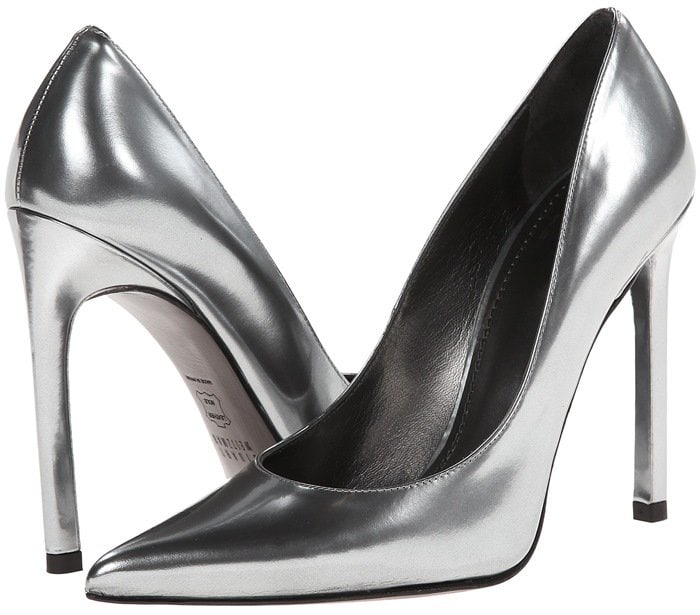 Stuart Weitzman Queen Metal Mirror Pumps