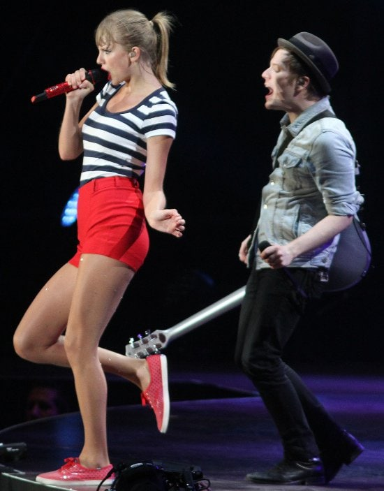 Taylor Swift sings along with Patrick Stump to Fall Out Boy's hit new single 'Our Songs Know What You Did in the Dark'