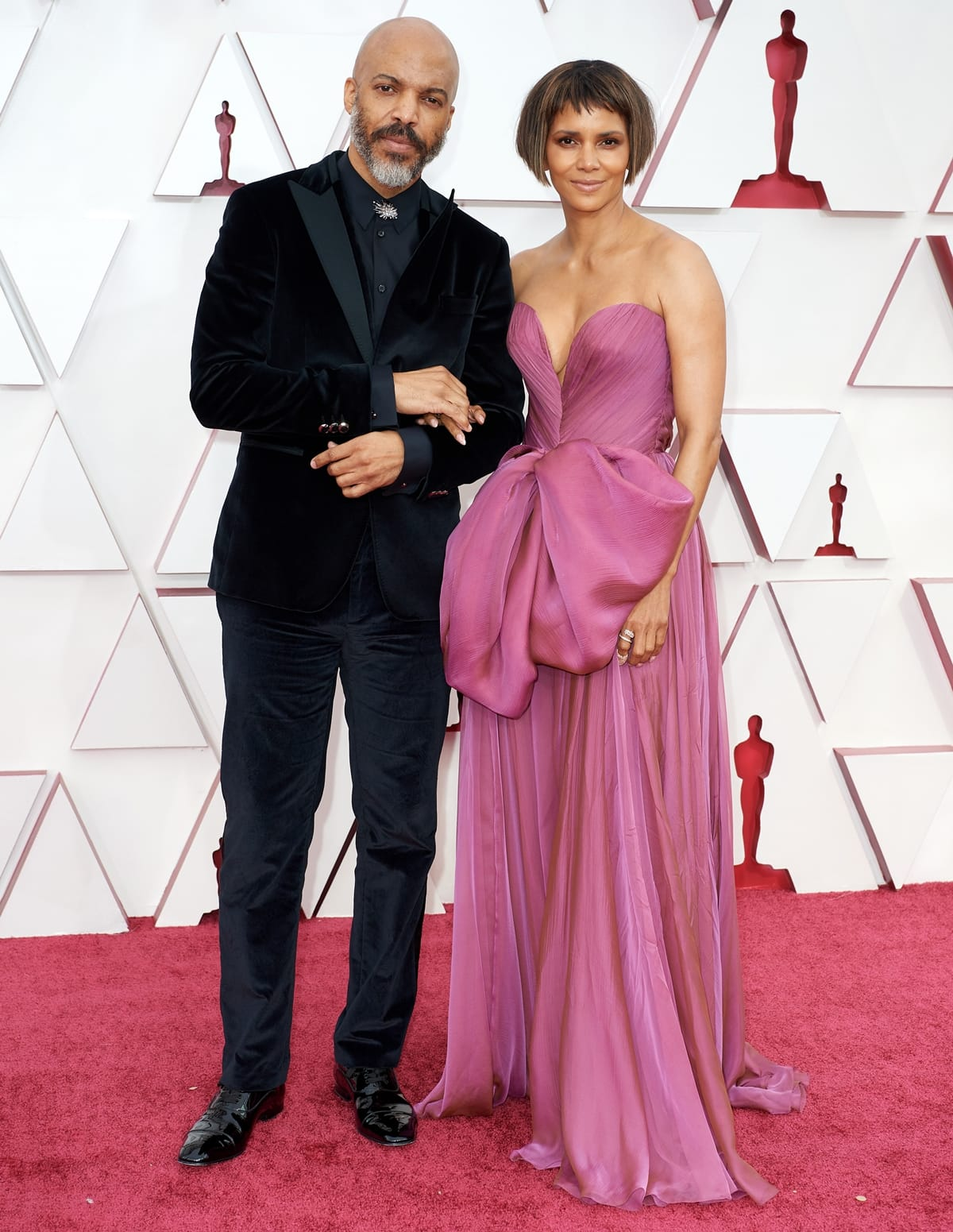 Van Hunt and his girlfriend Halle Berry attend the 93rd Annual Academy Awards