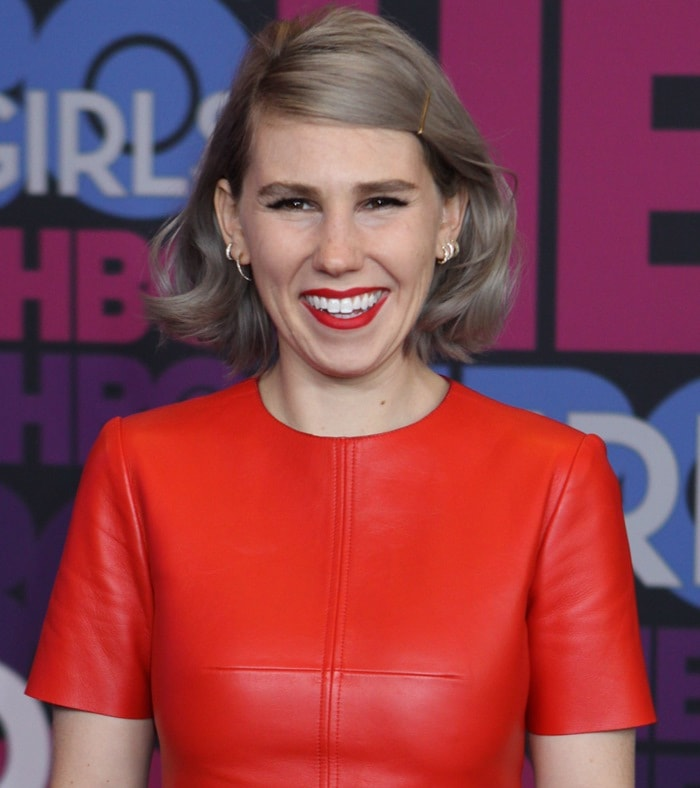 Zosia Mamet at the season four premiere of Girls held at the American Museum of Natural History in New York City on January 5, 2015