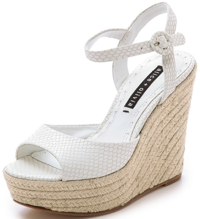 These espadrilles are made from snake-embossed leather for an edgy spin on the casual aesthetic