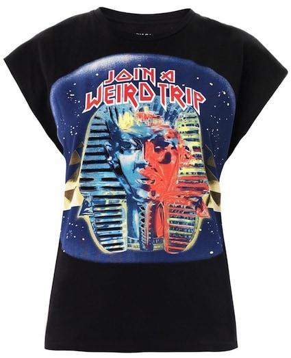 Balenciaga Sphinx Print T-Shirt in Black