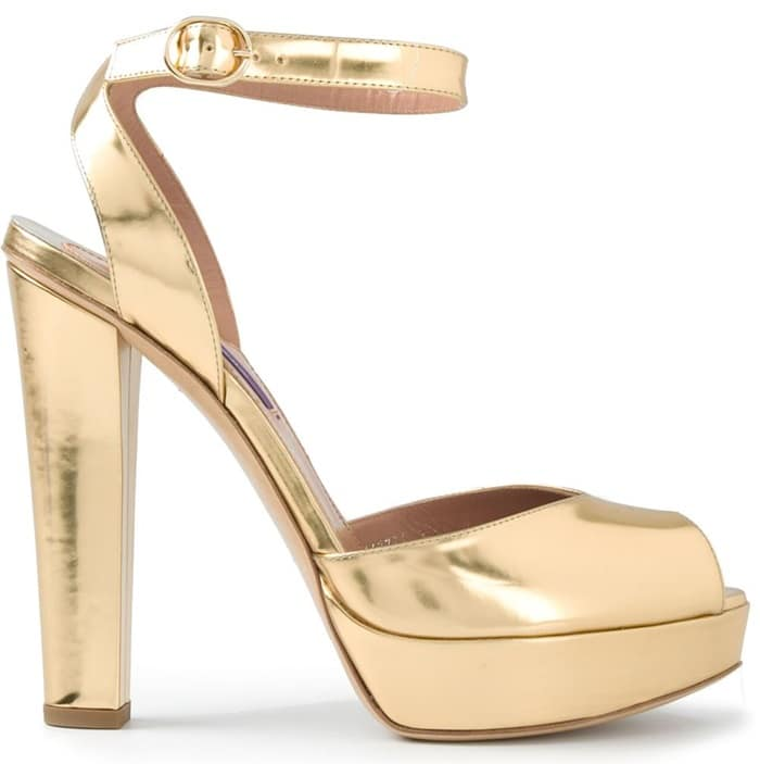Ralph Lauren Platform Sandals in Metallic Gold