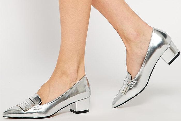 Asos Satisfied Mid-Heel Loafers