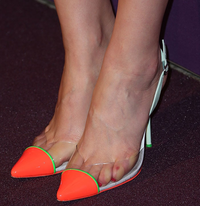 Ahna O'Reilly's sexy feet in Sophia Webster pumps