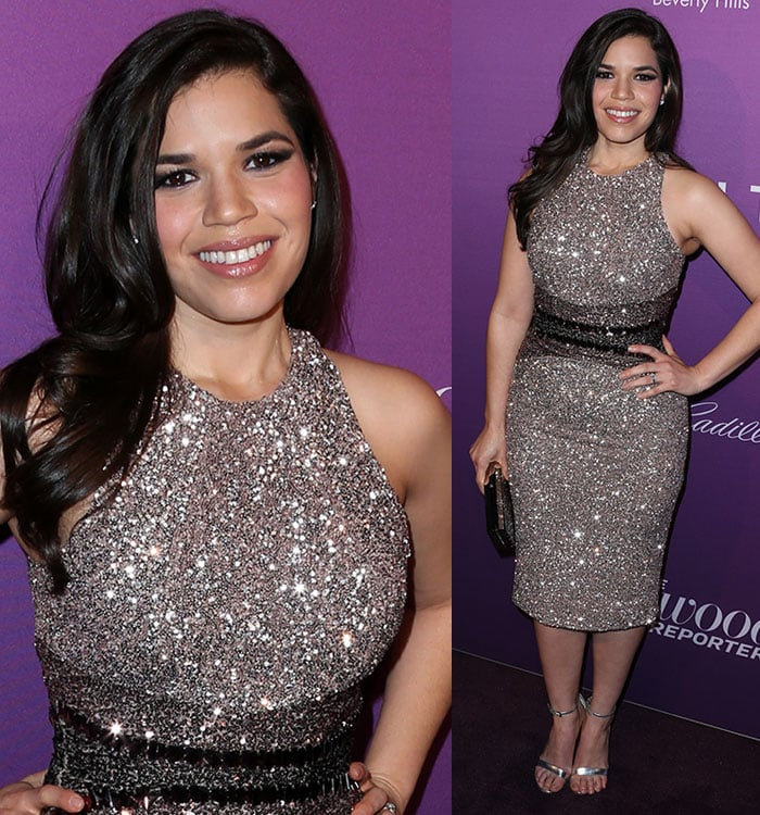 America Ferrera at The Hollywood Reporter's Annual Oscar Nominees Night at Spago in Beverly Hills on February 2, 2015
