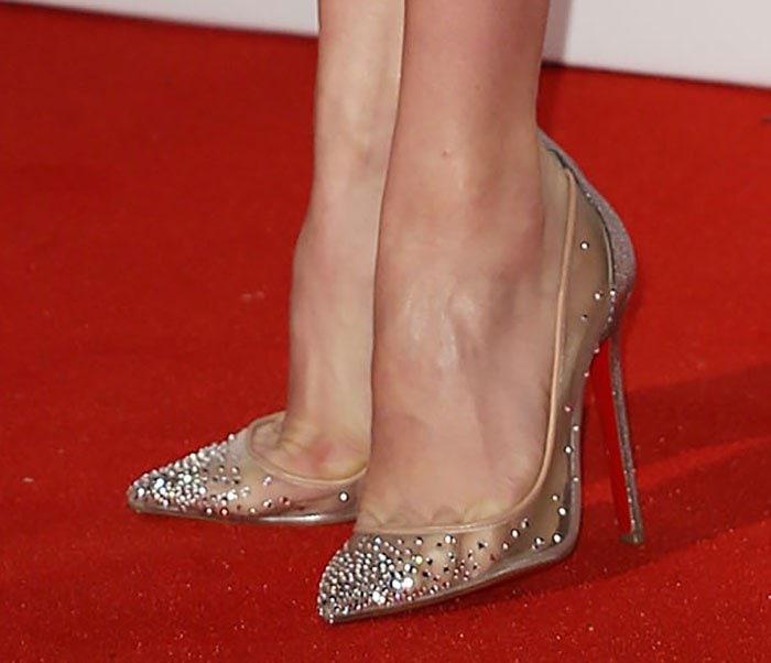 Amy Adams' crystal-embellished Follies pumps