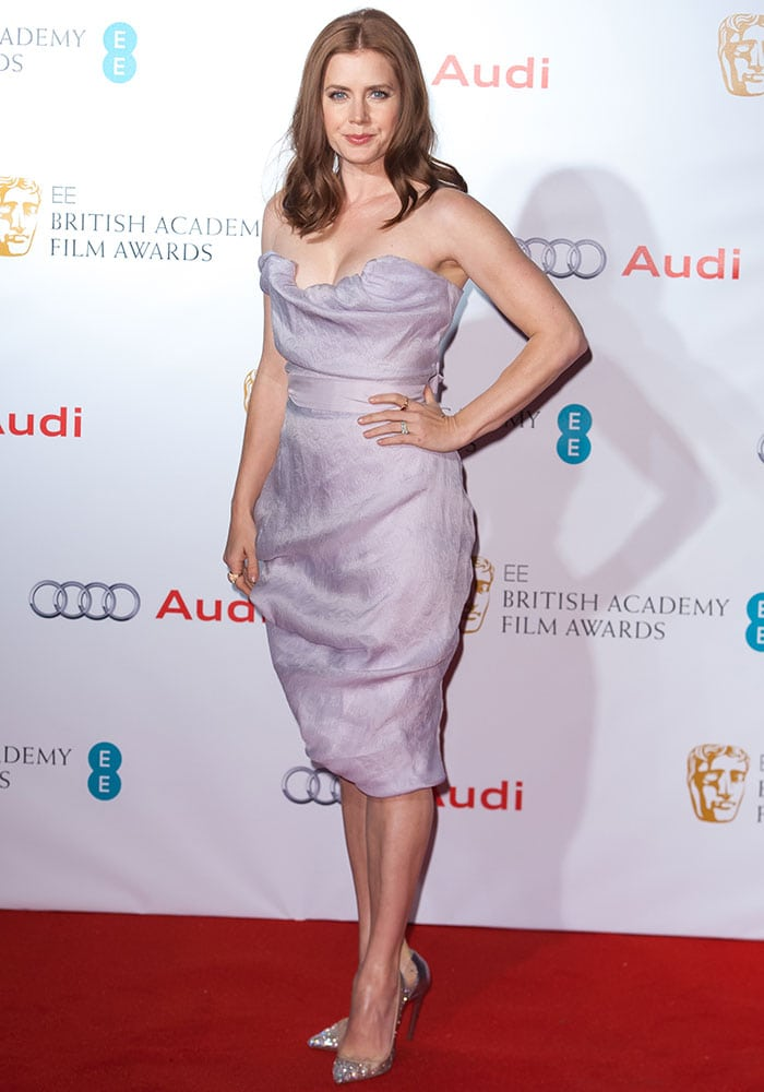 Amy Adams at theEEBritish Academy of Film and Television Arts(BAFTA) Nominees Party at Kensington Palace in London, England, on February 7, 2015