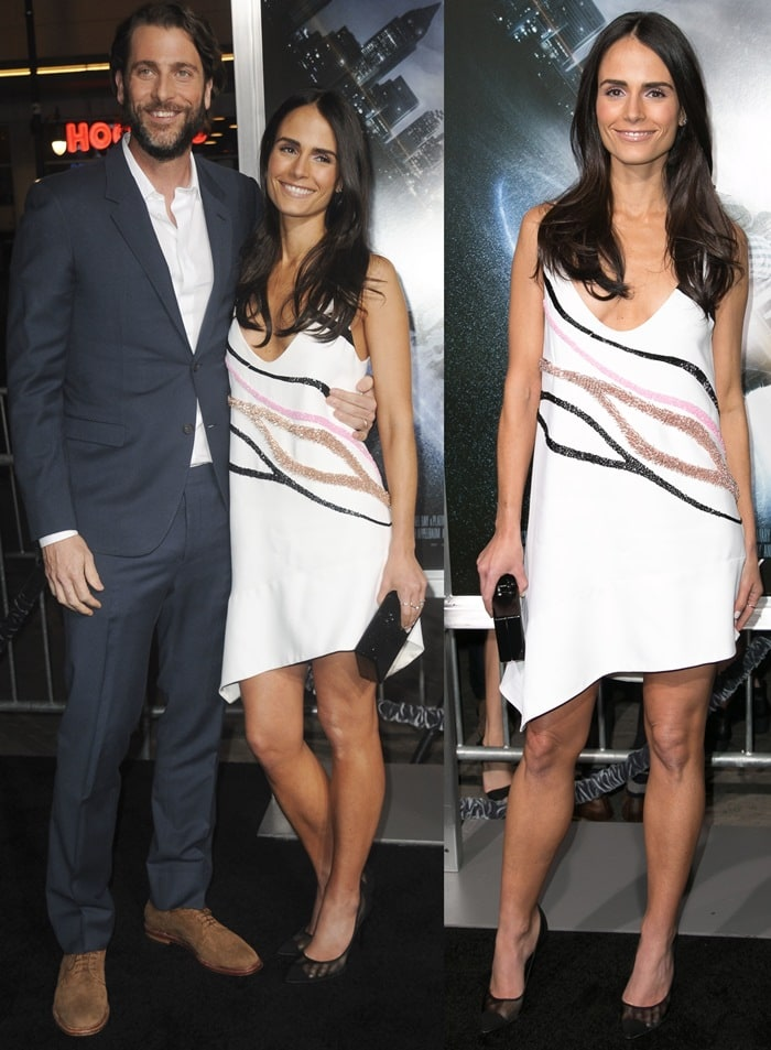 Jordana Brewster and Andrew Form at the premiere of Project Almanac held at TCL Chinese Theatre in Hollywood on January 27, 2015