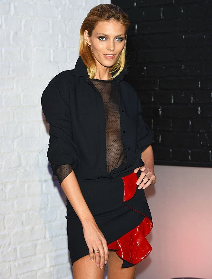 Anja Rubik at Project Runway Poland season 2 photocall in Warsaw, Poland, on February 19, 2015