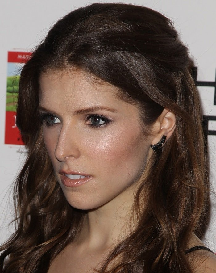 Anna Kendrick at the premiere of their new movie musical The Last Five Years at the Arclight in Hollywood on February 11, 2015