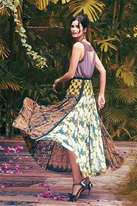 "Amadi ""Malva"" Tank Top and Beguile by Byron Lars ""Petal"" Patch Maxi Skirt"