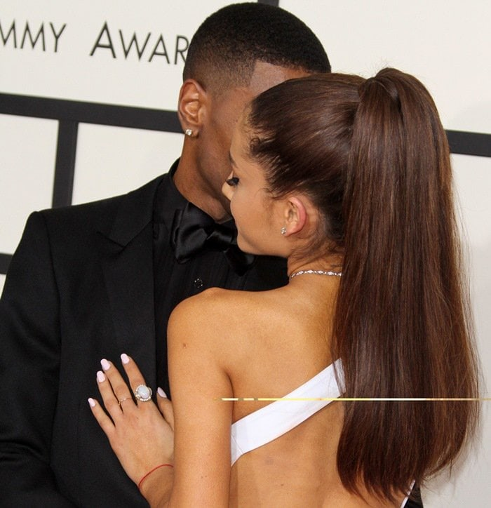 Ariana Grande Backless Versace Dress