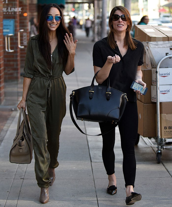 Ashley Greene and Cara Santana show off their nails in Beverly Hills