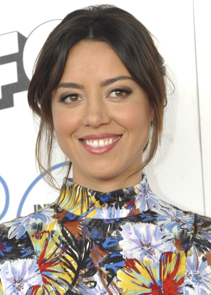 Aubrey Plaza at the 2015 Film Independent Spirit Awards at the beach in Santa Monica on February 21, 2015