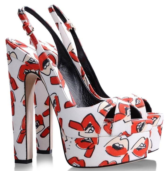 Brian Atwood Red Platform Sandals