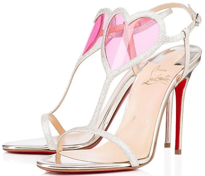 Christian Louboutin Cora Heart Glitter Sandals