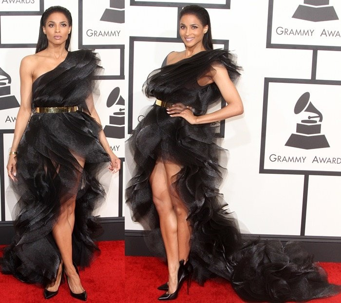 Ciara on the red carpet at the 2015 Grammy Awards