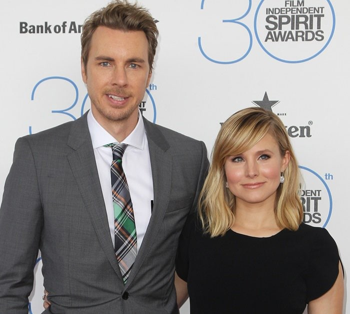 Dax Shepard and Kristen Bell at the 2015 Film Independent Spirit Awards