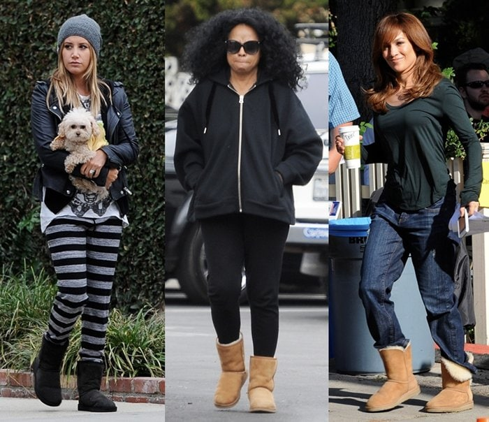Celebrities wearing sheepskin UGG boots