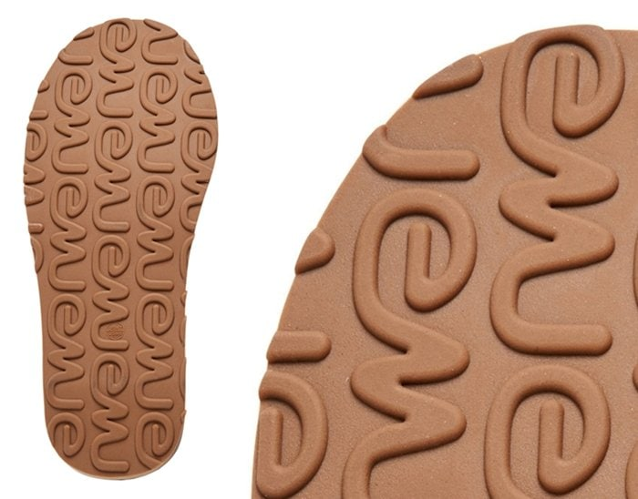 The outsoles of original units have the EMU brand embossed all throughout