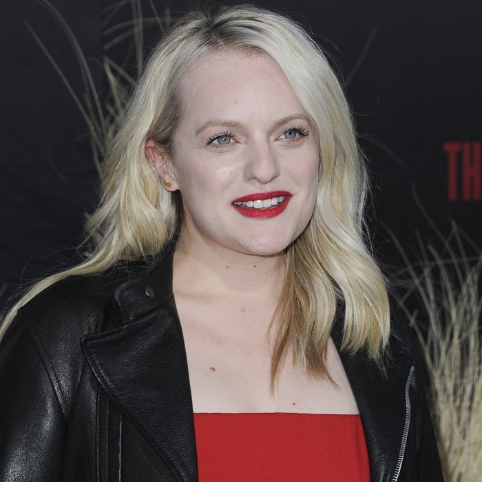 Elisabeth Moss at the premiere of 'The Handmaid's Tale' season two at the TCL Chinese Theatre in Hollywood on April 19, 2018