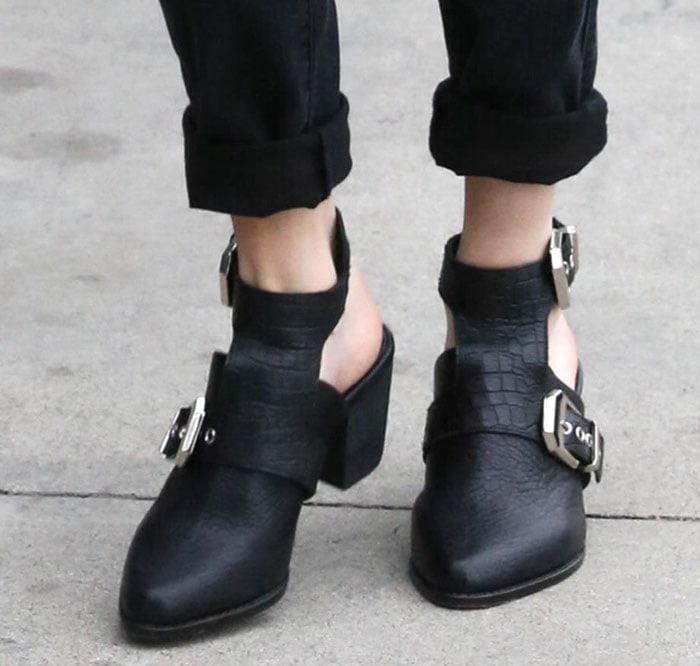 Emma Roberts rocks Sol Sana booties