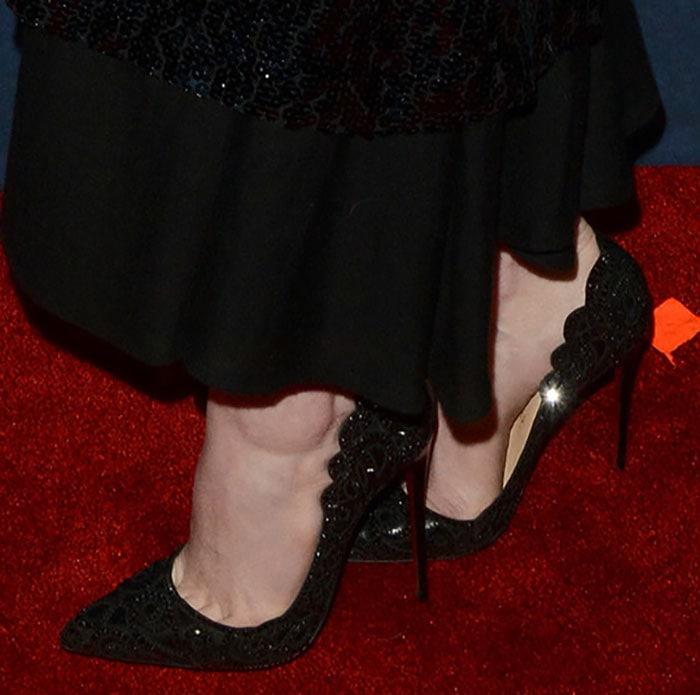 "Emma Stone wearingChristian Louboutin ""Top Vague"" pumps"
