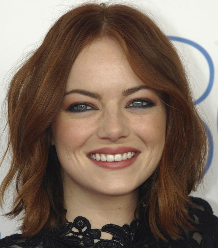 Emma Stone at the 2015 Film Independent Spirit Awards at the beach in Santa Monica on February 21, 2015