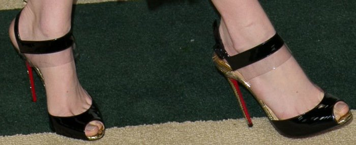 Emma Stone's black Just On sandals from Christian Louboutin