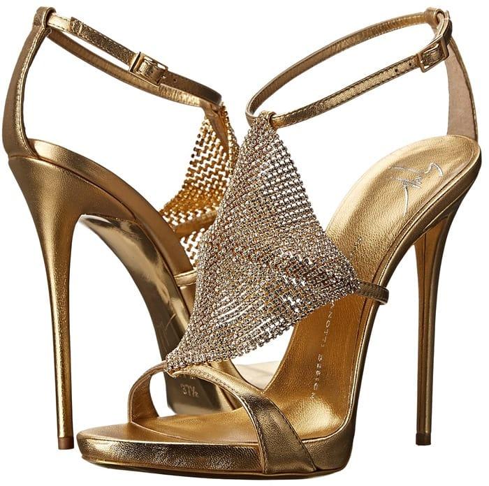 Gold Giuseppe Zanotti Sandals