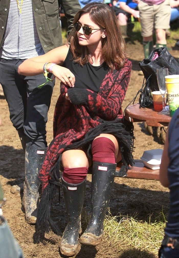 Jenna Louise Coleman at the 2014 Glastonbury Festival on June 27, 2014