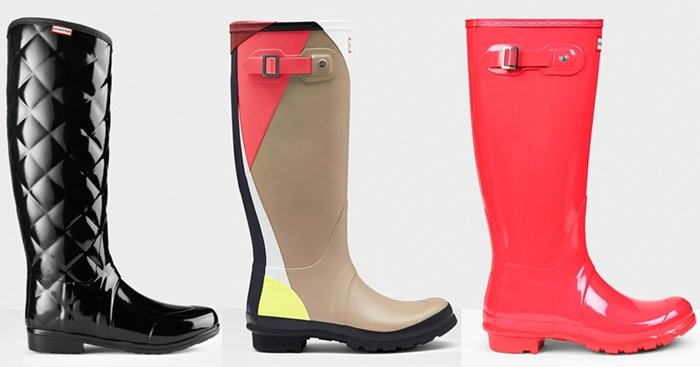 Hunter's seasonal boots add more colorways to the mix